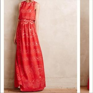 Erin Fetherston Coral Maxi Dress